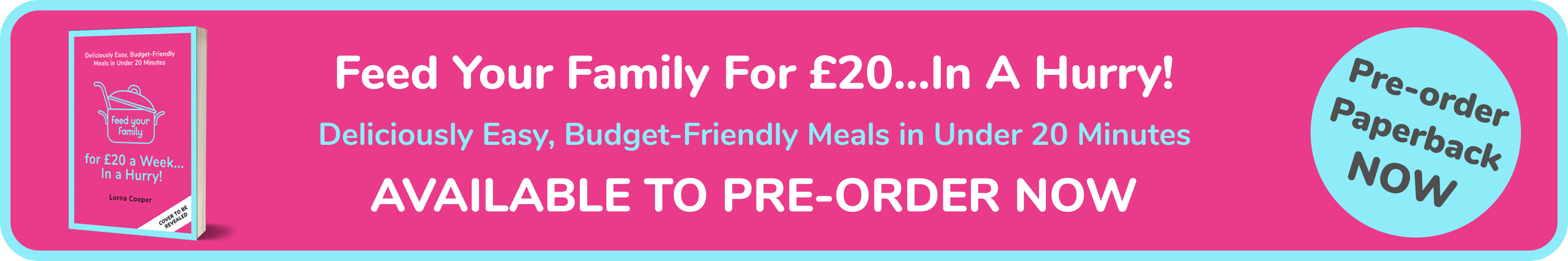 Feed Your Family For £20...In A Hurry! The Cookbook