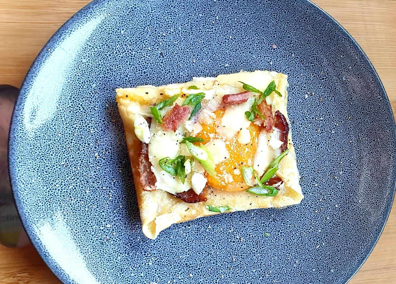 Bacon and egg savoury pancakes